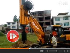 履带式旋挖机施工视频