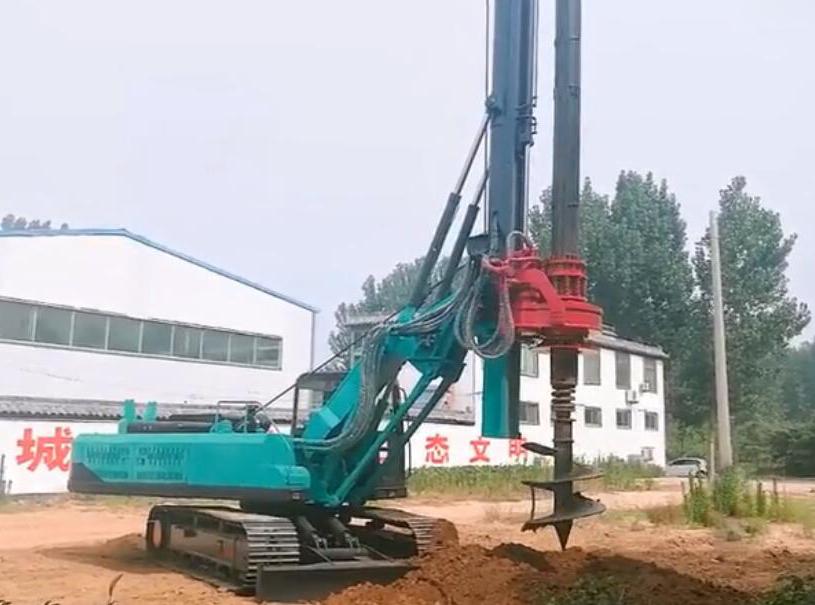 机锁杆旋挖钻机施工视频