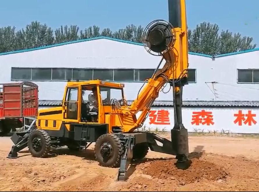 小型轮式旋挖钻机